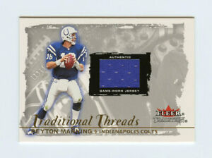 Peyton Manning 2000 Fleer Traditions Glossy Traditional Threads Jersey Insert