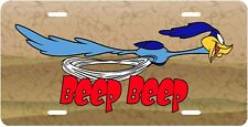 THE ROADRUNNER BEEP! BEEP!  NOVELTY VANITY LICENSE PLATE MADE IN U.S.A.