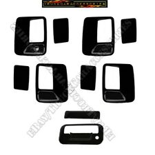 For Ford F250 F350 F450 1999-2000~2015 2016 Black  4 Door Handle+Tailgate Covers