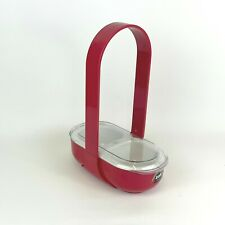 zak designs serving aid caddy 2 compartments Red / white
