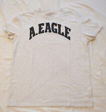 NWT Mens American Eagle AE Gray Embroidered Graphic T Size Large