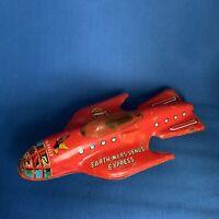 "Vintage Toy Dan Dare Tin Plate Space Ship ""Eagle"" Rare 1950's"
