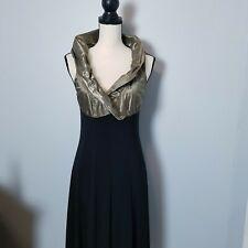 Joseph Ribkoff Midnight Blue Floral Lace Bodice Elegant Maxi Dress 191516 NEW