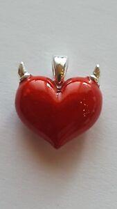 HEARTBREAKER by DRACHENFELS kleines herz rot hörner CROWN OF HEART LD-AT-44- RM