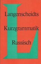 Langenscheidts Kurzgrammatik Russisch von Hans Orschel