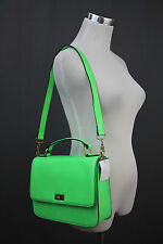 J.Crew Edie Purse Handbag Satchel Vivid Lime NWT $238 Tote Sold Out 44804