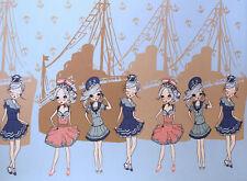 (EUR 18,60/m) Jersey Sweet Girls Hellblau im Rapport 0,54mx1,50m (Art 1211)