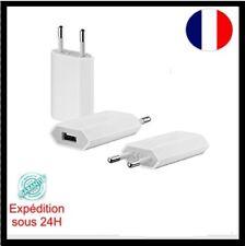 Adaptateur Mural Chargeur Secteur/USB Blanc Universel pour iPhone 5/6/7/8/X
