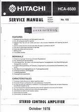 Hitachi Service Manual for hca-6500