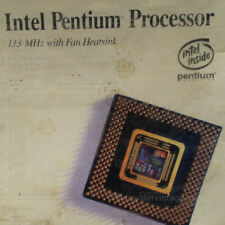 Rare Vintage Intel Pentium 133 with fan & Heat sink NIB Factory Sealed Retail!!!