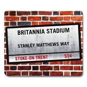 STOKE CITY BRITANNIA STADIUM London Street Sign MOUSEMAT football team Mouse Mat