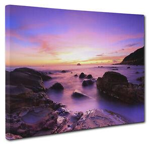 Majestic Sunrise Ocean Seascape Canvas Picture Print Wall Art Size A1 51x76cm