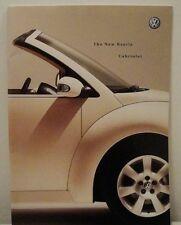 Volkswagen VW New Beetle Cabriolet UK Sales Brochure Dated 2003