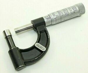 "Starrett 569 Tube Micrometer 1"" Outside .001"" USA Machinist Measuring 1 Inch"