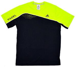 Adidas Men's Sport T-Shirt Tennis Running Shirt Functional Black Neon Green