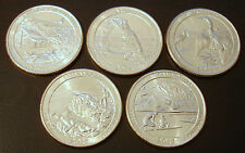 Set anni 2014 US NATIONAL PARK QUARTER D Mint (SET of 5 COINS from 2014 UNC.)