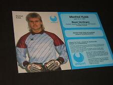 Manfred Kubic: MSV Duisburg, VFR Fischein, Bayer Uerdingen: Uhlsport card