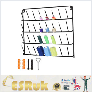 32 Spools Sewing Thread Rack, Wall-Mounted Metal Thread Holder Organizer with...