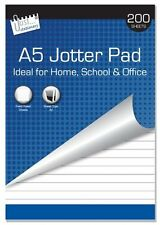 A5 Quality Jotter Note Pad 200 Sheets Lined Ruled Paper Top Bound Office School