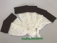 Pool Snooker Billiard Table Pockets complete set BROWN Leatherette Thick Cotton