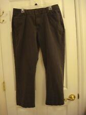 Women's Perfect Fit Just Below The Waist Stretch Flat Front Grey Pants Size 18 S