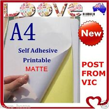 500 x A4 White Matte Self Adhesive Sticker Paper Sheet Label Laser Inkjet Print