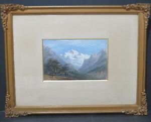 Alpine Jungfrau Switzerland 1879 Oil Grand Tour George Poole