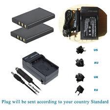 2 Battery + Charger for Kodak EasyShare DX6490 DX7440 DX7590 Klic5000 Klic 5000