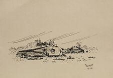 """2 Charts Canon Anglais Housen et rouge Maison 1946""""Encre de Chine sign. M."""