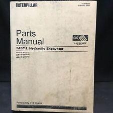 Caterpillar 345C L Excavator Trackhoe Parts Manual PJW1-Up ESD1-Up TDG1-Up
