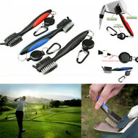 Colorful Golf Club Cleaning Brush & Groove Cleaner With Retractable Reel