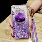 Dynamic Liquid Glitter Quicksand Soft bumper back Phone Case Cover & Lanyard #J