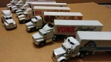 Lot Of 8 Diecast/Plastic 1:64 Semi Trucks super market trucks