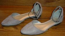 ANA DARELL LADIES ANKLE STRAP BALLET FLAT SANDAL , POINTED TOE, SIZE 6.5M NEW