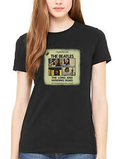 Official The Beatles A Is For Apple Women's T-Shirt Lennon McCartney Ringo