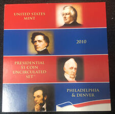 2010 United States Mint Presidential $1 Coin Uncirculated Set NH