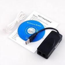 USB V.92 V.90 External Fax Data Modem Voice Dial Up w/ CD Driver For Win 7 Vista