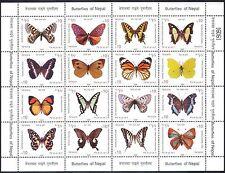 Nepal 2009 Mariposas/Insectos/Mariposa/naturaleza Sht 16v (n40093)