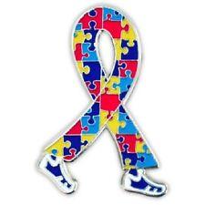 Autism Puzzle Ribbon Walking Legs Awareness Asperger Syndrome Lapel Pin Tac New