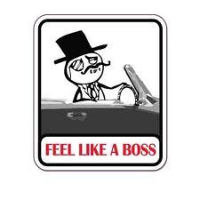 "Feel Like A Boss car bumper sticker decal 5"" x 4"""