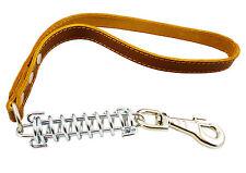 "Shock Absorbing Real Leather Dog Traffic Leash Short  20"" long Pitt Bull, Boxer"