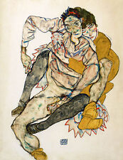 Egon Schiele Reproductions: The Embrace - Fine Art Print