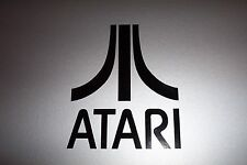 ATARI Logo Vinyl Decal Sticker 2600 5200 BLACK