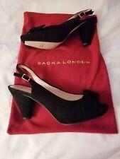Sacha London Size 7 Libby Black Sling Back Women's Heels
