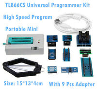 Portable Mini Pro TL866CS USB BIOS Universal Programmer Kit With 9 Pcs AdapterJZ