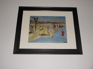 "Framed Genesis Album Collage Trespass, Foxtrot, Nursery Cryme Gabriel 14"" x 17"""