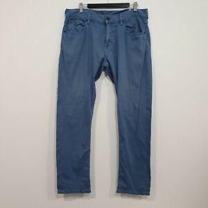 QUIKSILVER Mens Blue Slim Straight Fit Pants Size 34
