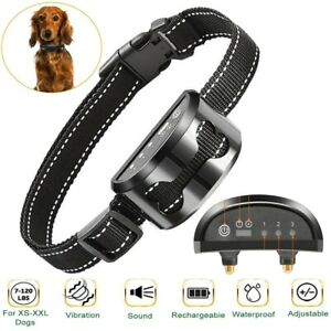Rechargeable LED Electric Anti Bark Pet Dog No Barking Training Shock Collar