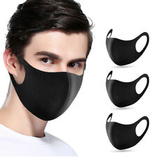 SALE! 3PCS  - Face Mask Reusable Washable Unisex Black Mouth Cover Cheap Cool