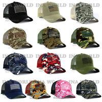 USA American Flag Hat Cap Mesh Tactical Operator Military Snapback Baseball Cap